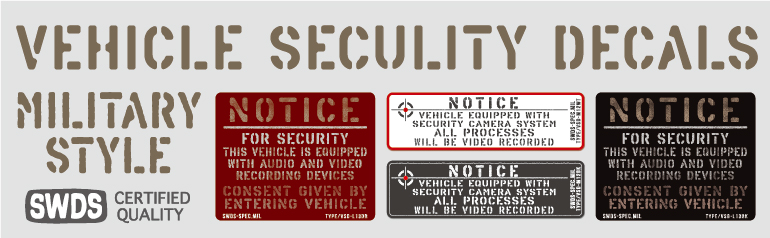 VEHICLE SECULITY DECAL
